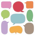 Speech bubbles Royalty Free Stock Photo