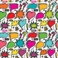 Speech Bubbles,arrow seamless pattern.Doodle Royalty Free Stock Photo
