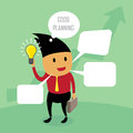 Speech bubbles with businessman illustration by design eps Stock Photos