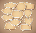 Speech bubbles Cardboard Stock Photography