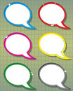 Speech bubbles collection Royalty Free Stock Image