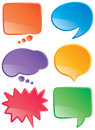 Speech bubbles color a set of and thought in various colors Royalty Free Stock Photography