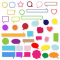 Speech Bubbles Colorful Stock Photos