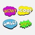 Speech Bubbles : colorful comic speech tag