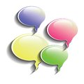 Speech bubbles colorful illustration with for your design Royalty Free Stock Photos