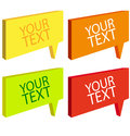 Speech bubbles colorful set Stock Image