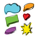 Speech bubbles colorful set Stock Photos