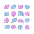 Speech bubbles, conversation, chat text dialogue icons vector set