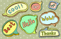 Speech bubbles cute doodle hand drawn Royalty Free Stock Photos