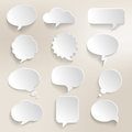 Speech bubbles d collection of with a effect Royalty Free Stock Photography