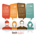 Speech bubbles group of people with Royalty Free Stock Photos