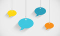 Speech Bubbles Hanging On Strings Royalty Free Stock Photo