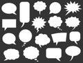 Speech bubbles icons