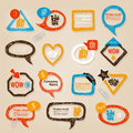 Speech bubbles illustration hand drawn Stock Photography