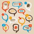 Speech bubbles illustration hand drawn Royalty Free Stock Images