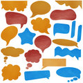 Speech bubbles leather texture Stock Images