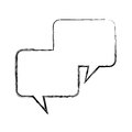 Speech bubbles message isolated icon