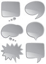 Speech bubbles mono a selection of and thought in monochromatic coloring Royalty Free Stock Photography
