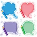 Speech bubbles and pencils Royalty Free Stock Photo