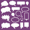 Speech bubbles set of Stock Images