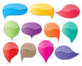 Speech bubbles set of blank colorful paper Royalty Free Stock Photo
