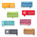 Speech bubbles set of colored Stock Images