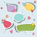 Speech bubbles set of colorful Stock Photo