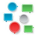 Speech bubbles set of different shapes Stock Photos