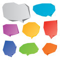 Speech bubbles set of eight abstract different colors Stock Image