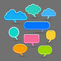 Speech bubbles set of on a gray background vector Royalty Free Stock Image