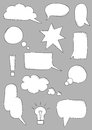 Speech bubbles set of icons Royalty Free Stock Image