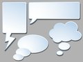Speech bubbles set of illustration Royalty Free Stock Photos