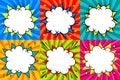 Speech bubbles set. Pop art styled blank speech bubbles template for your design. Clear empty bang comic speech bubbles