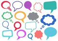 Speech bubbles set of vector colorful and thought Royalty Free Stock Photo
