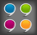 Speech bubbles set vector illustration Stock Photo