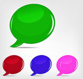 Speech bubbles set vector illustration file eps format Royalty Free Stock Images