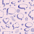 Speech bubbles skech pattern Stock Photography