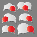 Speech bubbles vector illustration Royalty Free Stock Photos