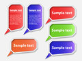 Speech bubbles vector illustration of file is in eps format Royalty Free Stock Images