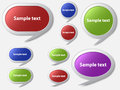 Speech bubbles vector illustration of file is in eps format and contains transparencies Stock Photos