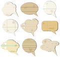 Speech bubbles vector illustration of old fashioned Royalty Free Stock Image