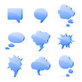 Speech bubbles vector set of high detailed d isolated on white background Stock Photo