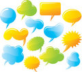 Speech and message bubbles set Stock Photography
