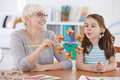 Speech therapy activities Royalty Free Stock Photo
