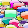 Speech and thought bubbles Royalty Free Stock Photo