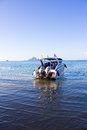 Speed boat at ao nang thailand Royalty Free Stock Photos