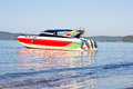 Speed boat at ao nang thailand Royalty Free Stock Images