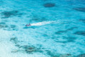 Speed boat in crystal clear tropical sea similan island thailand Royalty Free Stock Image