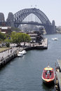 Speed Boat & Sydney Harbour Bridge Stock Photography