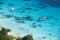 Speed boats in crystal clear tropical sea boat similan island thailand Stock Photography